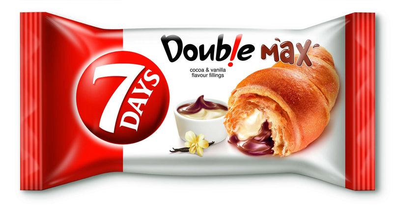 7 Days Double Max Croissant With Cocoa & Vanilla Filling 80G