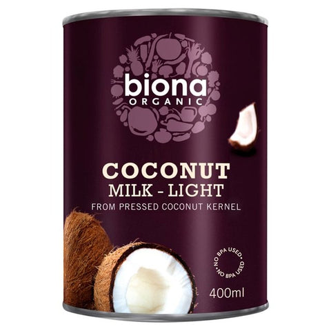 Biona Organic Coconut Milk Light (9% Fat) 400ml