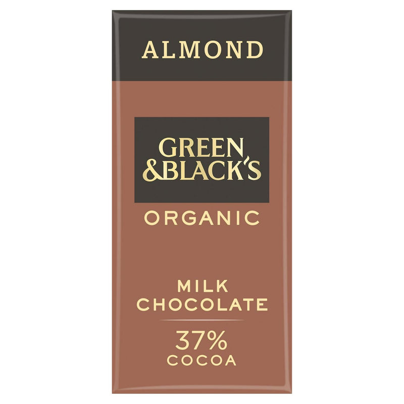 Green & Black's Organic Milk Almond Chocolate Bar 90g