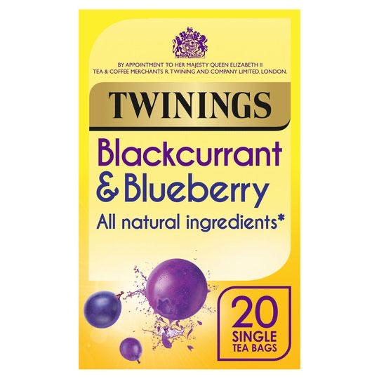 Twinings Blackcurrant & Blueberry 20 Tea Bags 40G