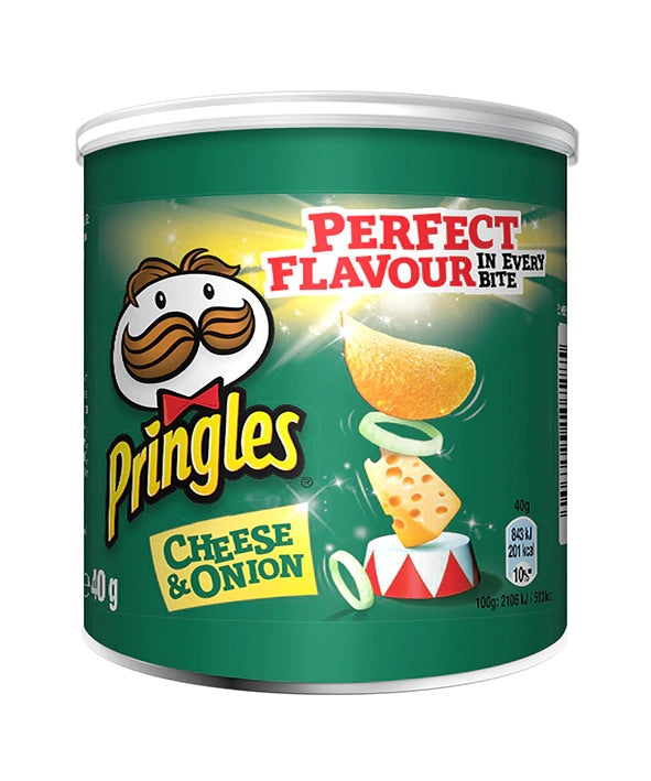 Pringles Pop & Go Cheese And Onion Crisps 40g
