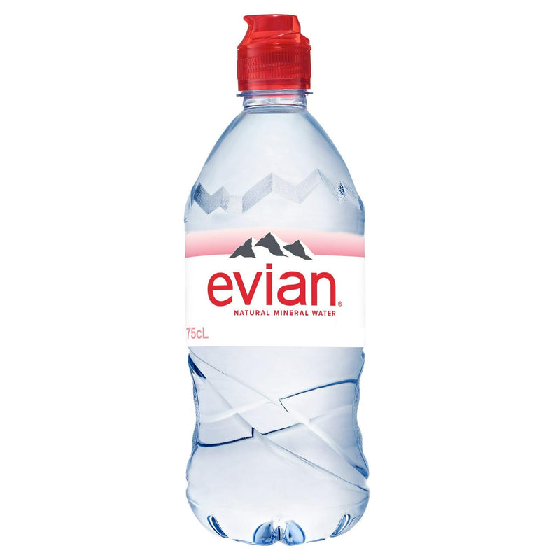 Evian Natural Mineral Water 750ml (Sports Cap)