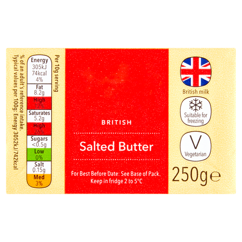 British Salted Block Butter 250G