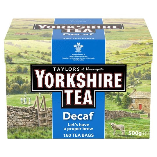 Yorkshire Decaffeinated Teabags 160 500G