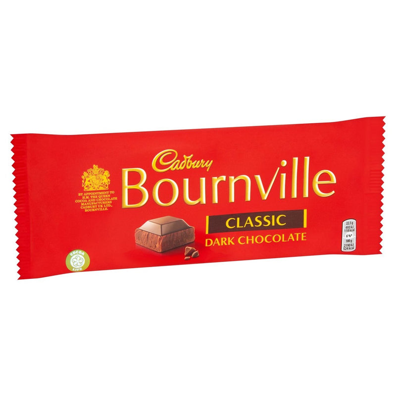 Cadbury Bournville Classic Dark Chocolate Bar 100g
