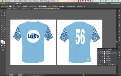 Download Taïga's Jersey Design Template