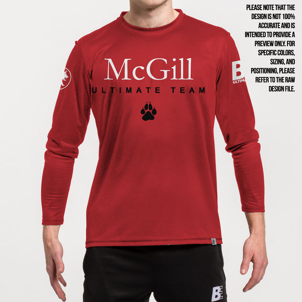 Full Sub N-Knit Long Sleeve Red | McGill University MUT Winter 2020