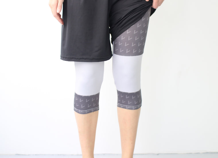 Women's Full Sub Leggings | Grey Windy Day