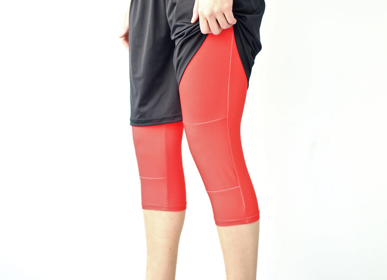 Women's Ultimate Full Sub Leggings | Lava Red