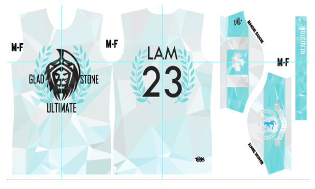 Gladstone Ultimate Fully Sublimated Light Jersey