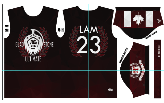 Gladstone Ultimate Fully Sublimated Dark Jersey
