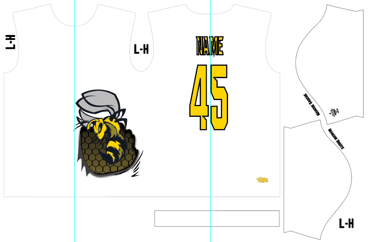 Sting Ultimate Spot Sublimated White Jersey
