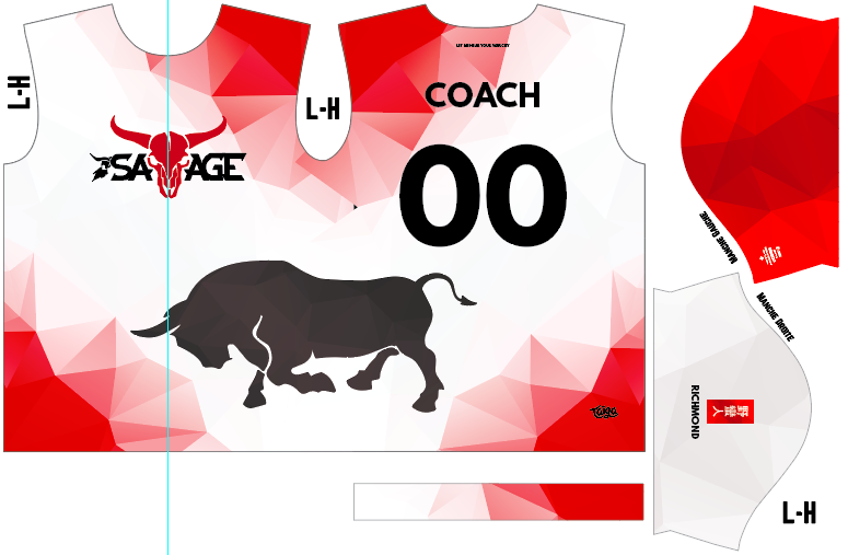 Savage Ultimate Fully Sublimated White Jersey