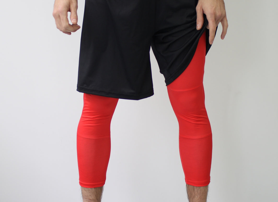 Men's Ultimate Full Sub Leggings | Bright Red