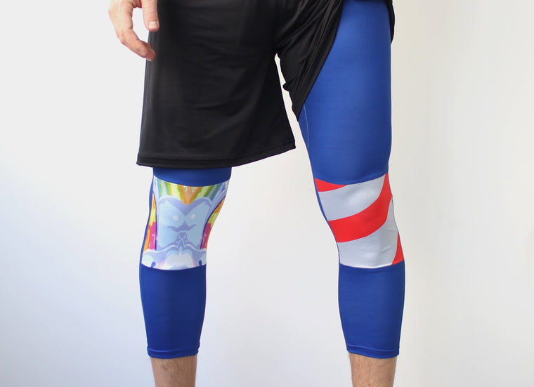 Men's Ultimate Full Sub Leggings | Blue Butterflies