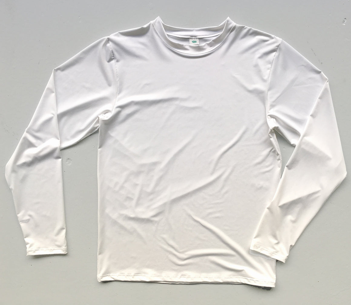White Long Sleeve Jersey | Blank