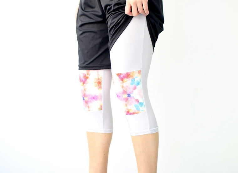 Women's Ultimate Full Sub Leggings | Silver & Prisms