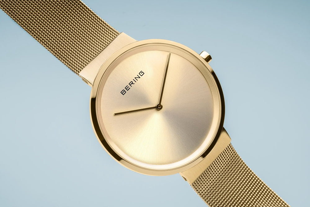 Bering Classic Brushed Gold 39mm Unisex Watch