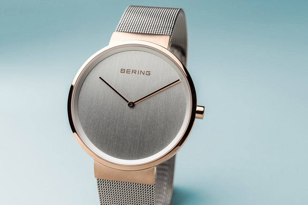 Bering Classic Brushed Rose Gold 39mm Watch