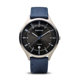 Bering Titanium Brushed Silver Watch