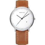 Bering Classic Minimalist Brown Watch