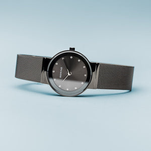 Load image into Gallery viewer, Bering Classic Polished Grey Mesh Watch