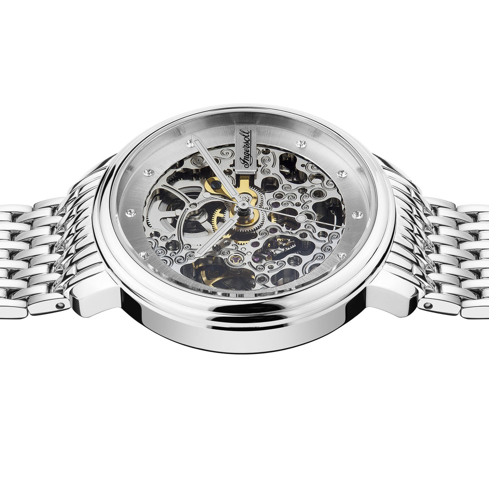 Ingersoll Crown Automatic Silver Watch