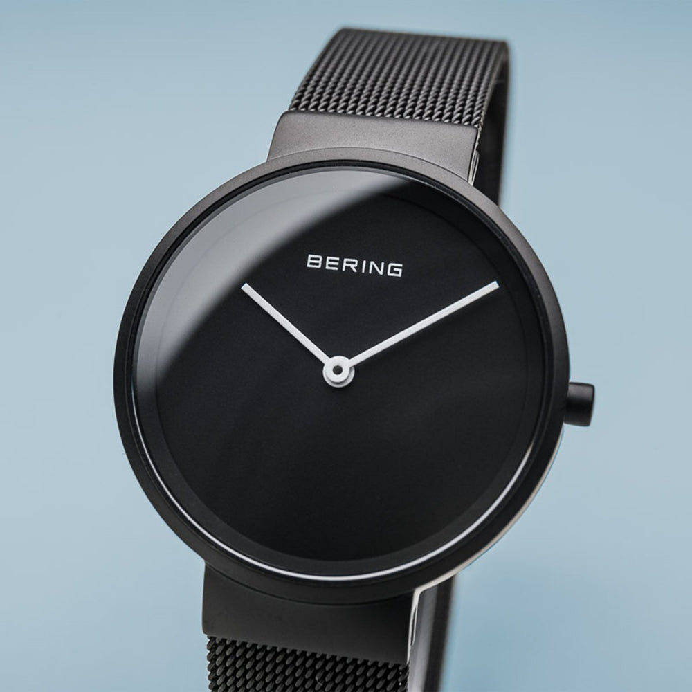 Load image into Gallery viewer, Bering Classic Matt Black Mesh Watch