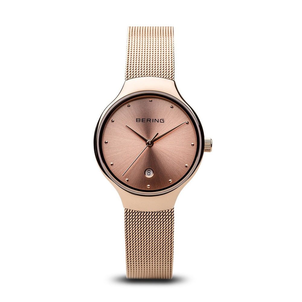 Bering Classic Polished Rose Gold 26mm Watch