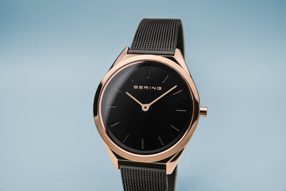 Load image into Gallery viewer, Bering Ultra Slim Polished Rose Gold Watch