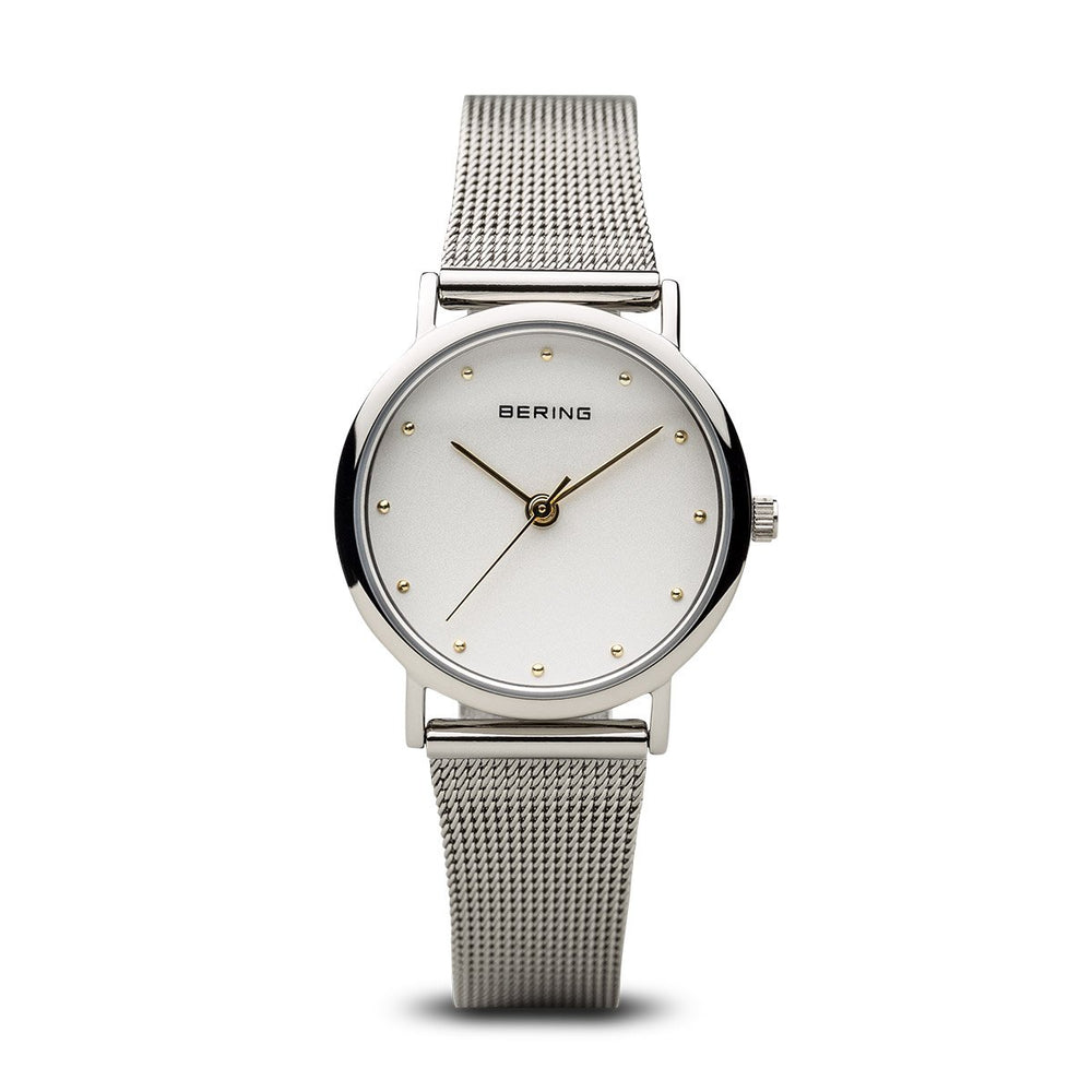 Load image into Gallery viewer, Bering Classic Polished Silver 26mm Mesh Watch