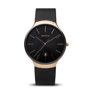 Bering Classic Collection 38mm Black Milanese Strap
