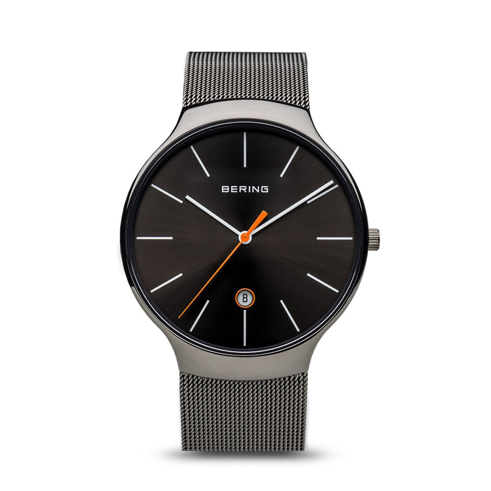 BERING Classic Unisex Polished Grey 20mm Mesh
