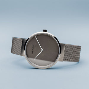Load image into Gallery viewer, Bering Classic  Brushed Silver 39mm Grey Mesh Watch