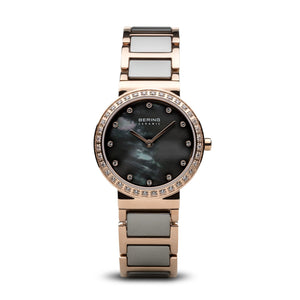 Load image into Gallery viewer, Bering Ceramic Polished Rose Gold Grey Watch