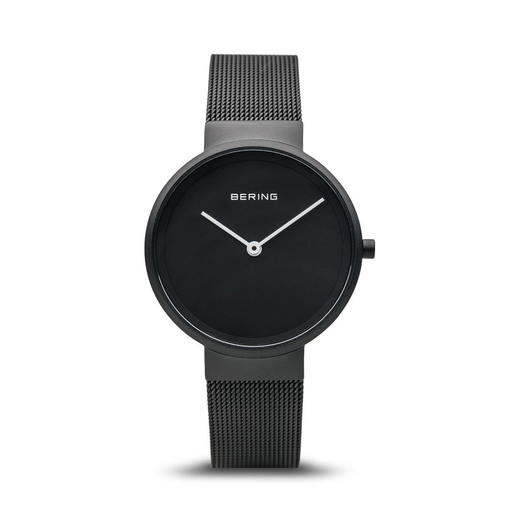 Bering Classic Matt Black Mesh Watch