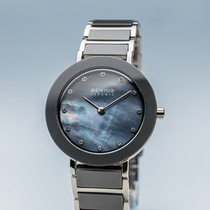 Load image into Gallery viewer, Bering Ceramic Polished Silver Pearl Watch