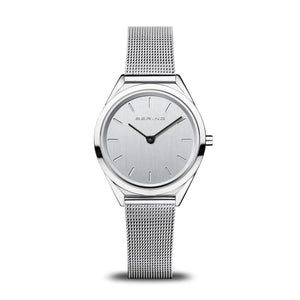 Load image into Gallery viewer, Bering Ultra Slim Polished Silver Watch