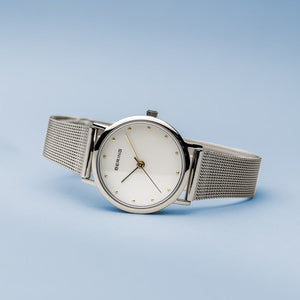 Bering Classic Polished Silver 26mm Mesh Watch