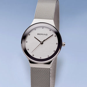 Bering Classic Polished Silver 34mm Watch
