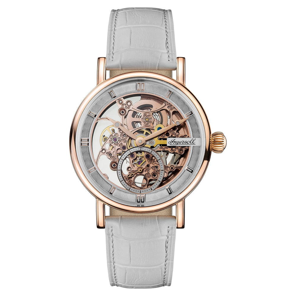 Load image into Gallery viewer, Ingersoll Herald Grey Automatic Skeleton Watch