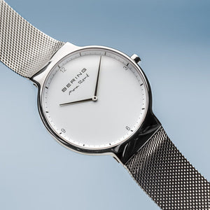 Bering Max René Polished Silver Mesh Watch