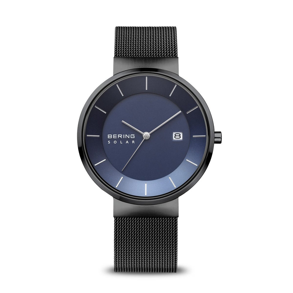 Load image into Gallery viewer, Bering Solar Polished Black Watch