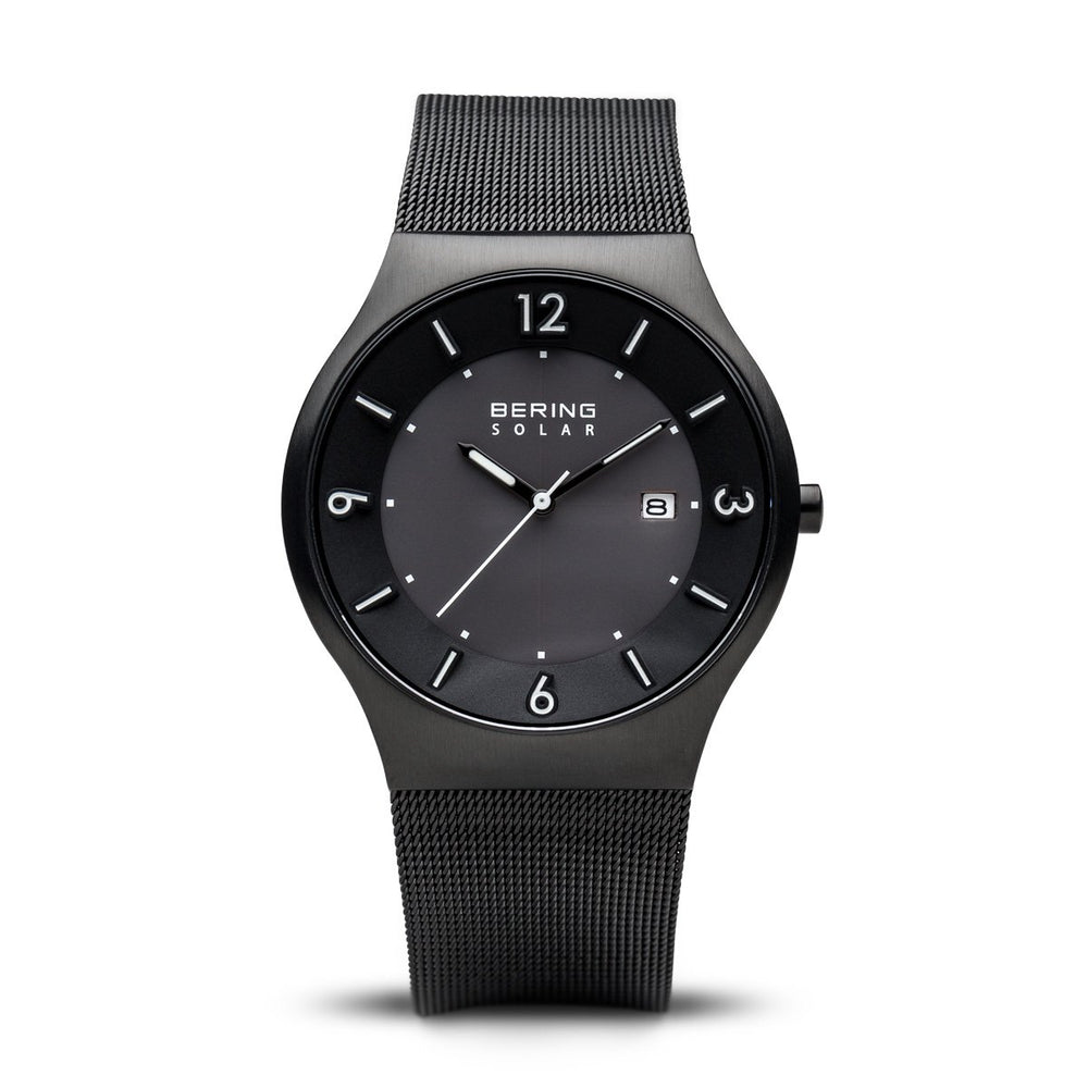 Bering Solar Brushed Black Watch