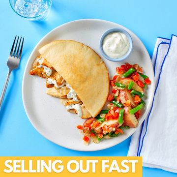 Chicken Gyros With Greek Style Vegetables And Tzatziki Sauce