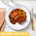 Seasoned Pork Ribs With BBQ Sauce, Baked Beans & Roasted Corn Medley