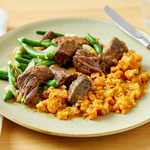 Beef Short-Ribs with Sweet Potatoes & Green Beans