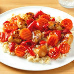 Honey Teriyaki Chicken with Brown Rice, Carrots & Peppers