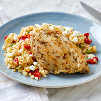 Mediterranean Seasoned Chicken with Vegetable Medley, Couscous & Feta