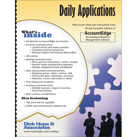 AccountEdge: Daily Applications training manual